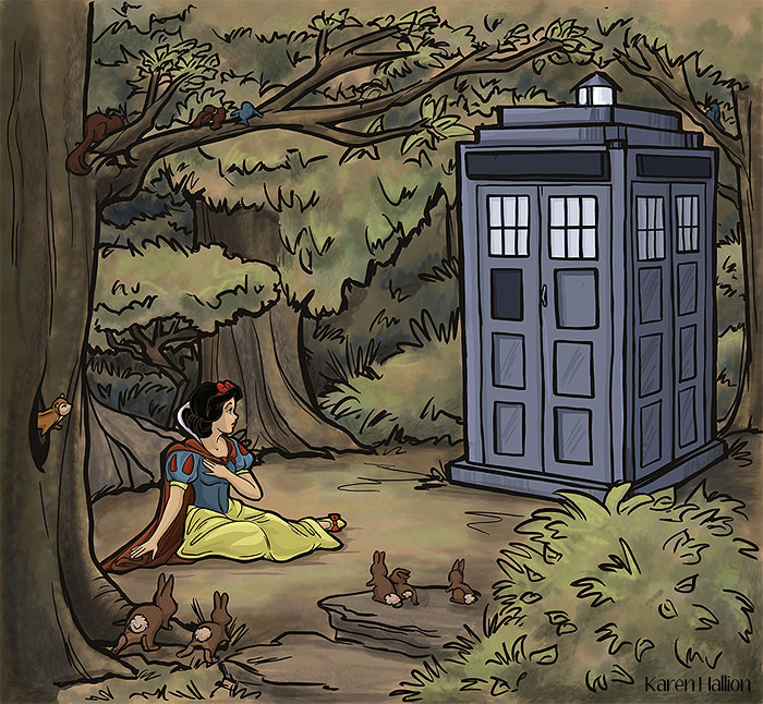 princesas-disney-doctor-who-1