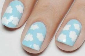 Tutorial: Nail art de nuvens