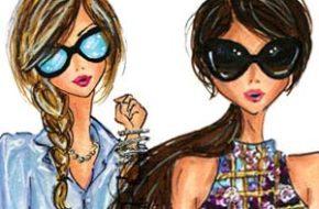 As ilustrações de moda de Anum Tariq