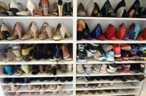 Organização do closet: Sapateira sob medida