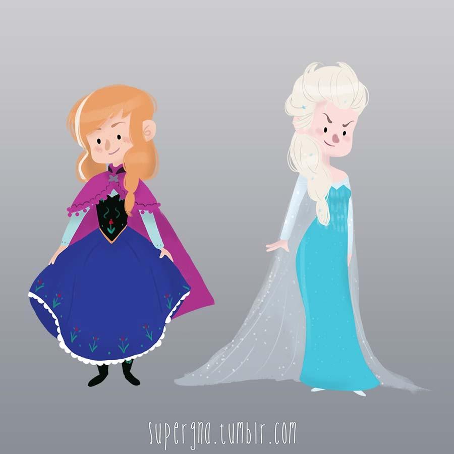 ilustracoesdisney-supergna-princesas-anna-elsa