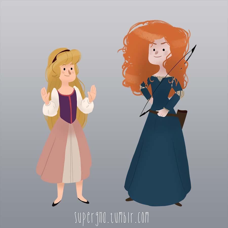 ilustracoesdisney-supergna-princesas-eilonwy-merida