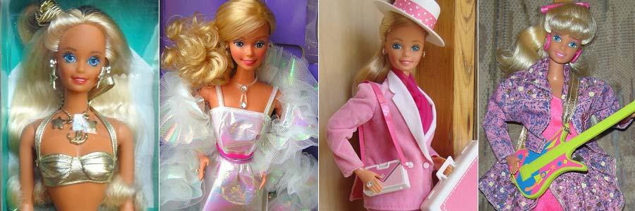 As maravilhosas Barbies dos anos 80 e 90!