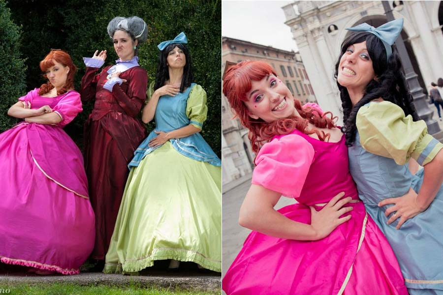 disney-cosplay-viloes-ladytremaine-drizella-anastasia