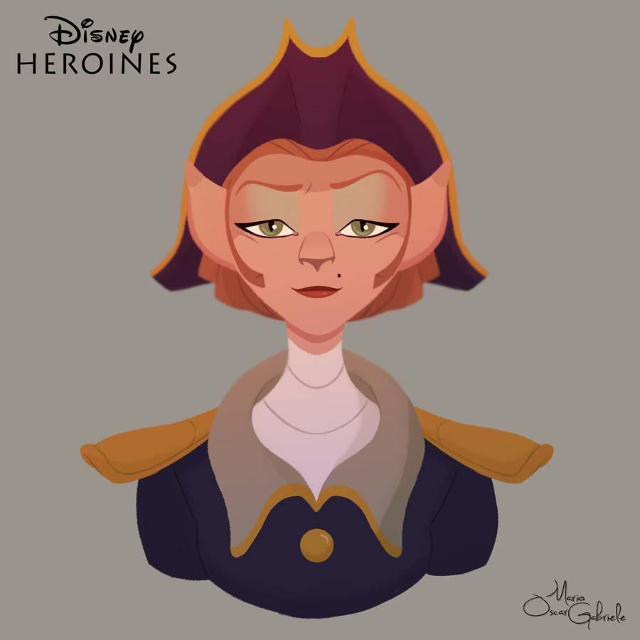 disney-ilustrações-retratos-heroínas-amelia