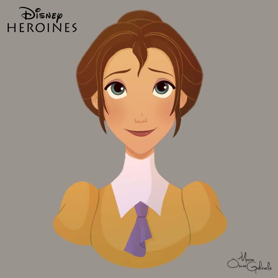 disney-ilustrações-retratos-heroínas-jane