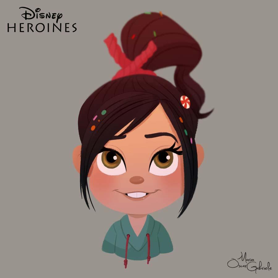 disney-ilustrações-retratos-heroínas-vanelope