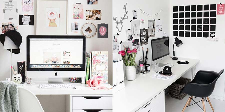 Decora o detalhes fofos no home office just lia por for Wanddekoration jugendzimmer