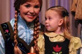 As fantasias de princesa da menina Lane