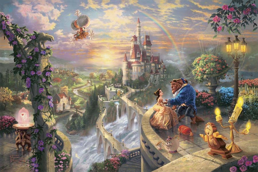 disney-ilustracao-thomaskinkade-disneydreams-abelaeafera