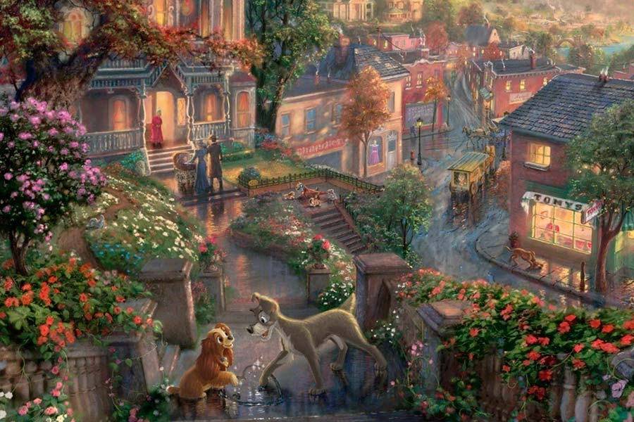 disney-ilustracao-thomaskinkade-disneydreams-adamaeovagabundo