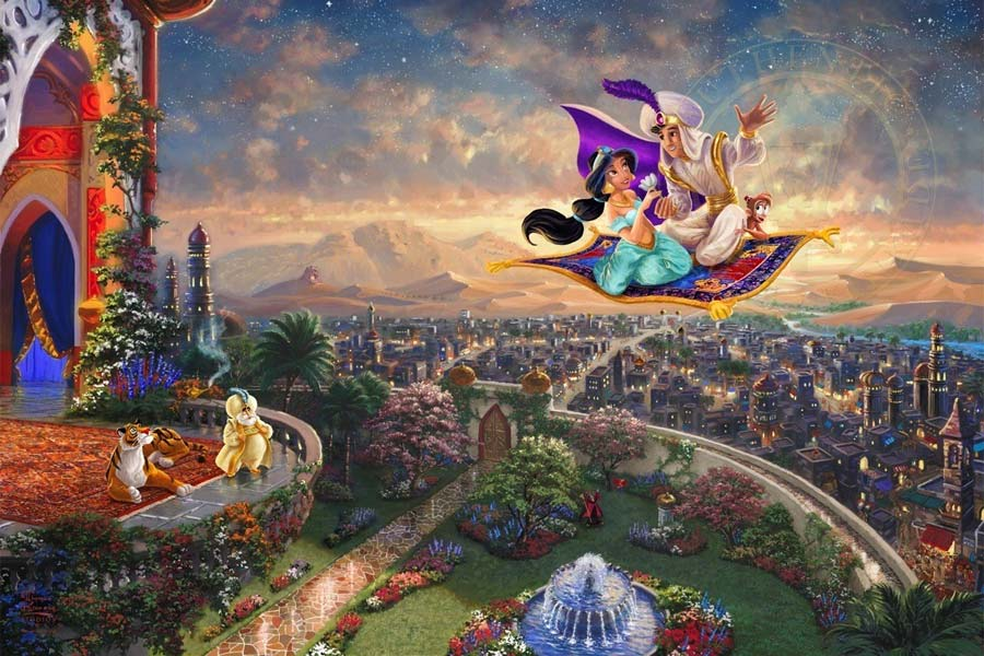 disney-ilustracao-thomaskinkade-disneydreams-aladdin