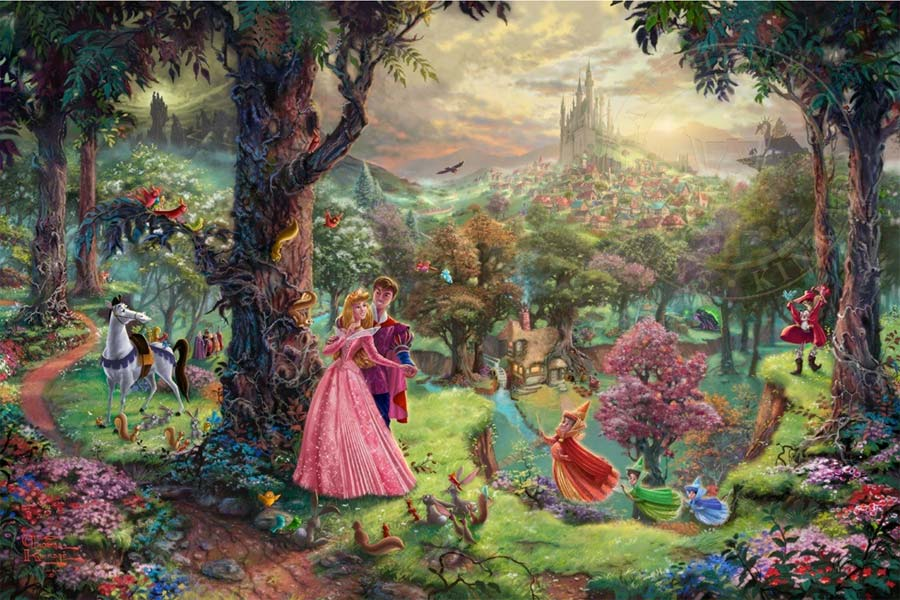 disney-ilustracao-thomaskinkade-disneydreams-belaadormecida