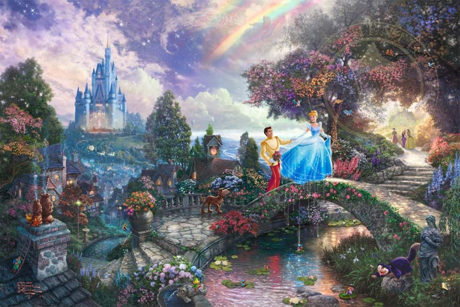 disney-ilustracao-thomaskinkade-disneydreams-cinderela