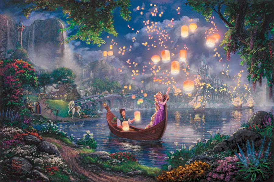 disney-ilustracao-thomaskinkade-disneydreams-enrolados