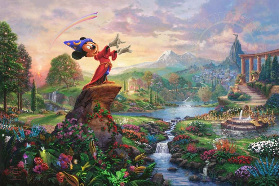 disney-ilustracao-thomaskinkade-disneydreams-fantasia
