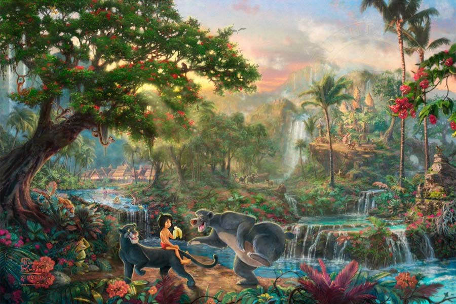 disney-ilustracao-thomaskinkade-disneydreams-mogli