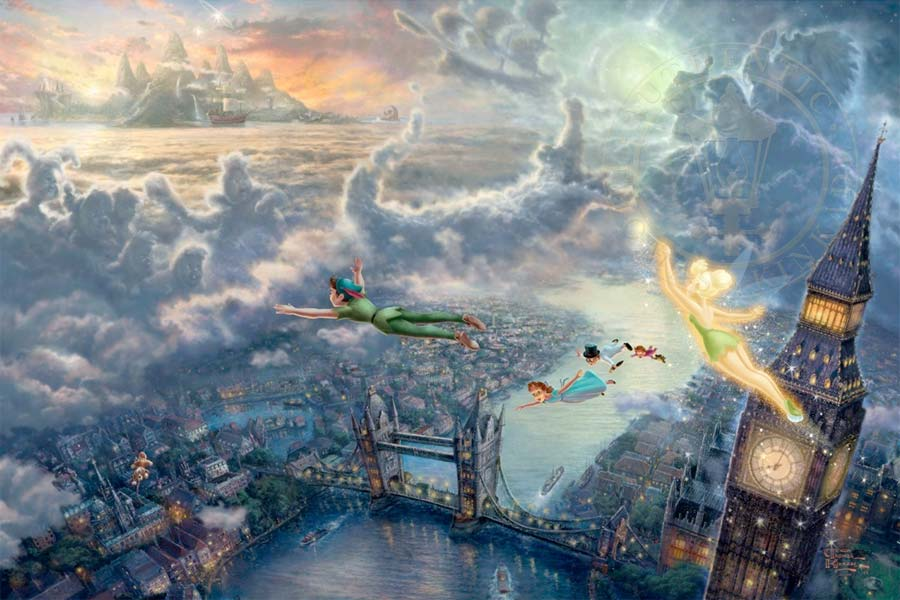 disney-ilustracao-thomaskinkade-disneydreams-peterpan