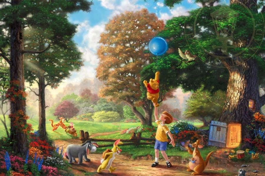 disney-ilustracao-thomaskinkade-disneydreams-pooh