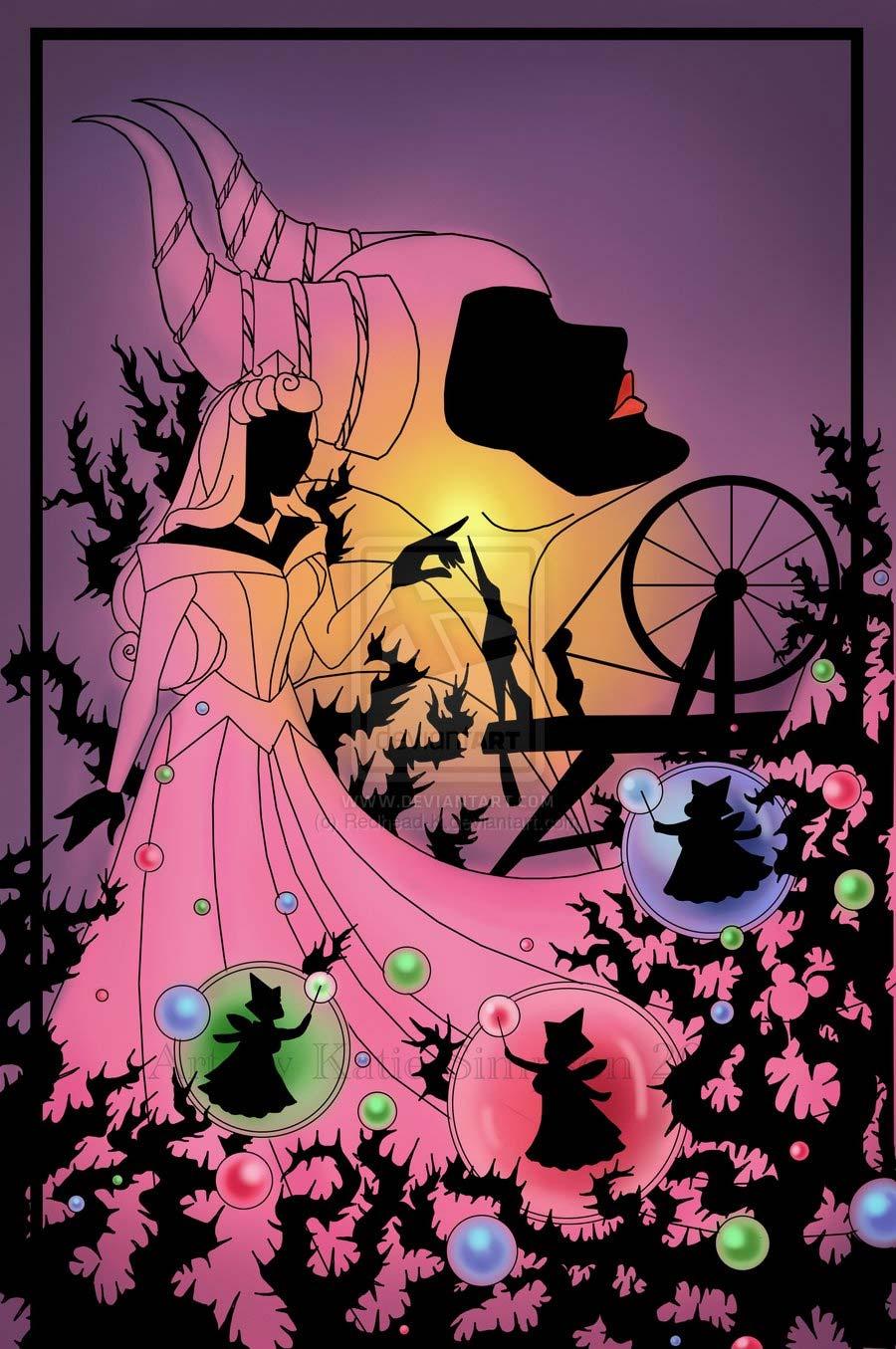 disney-ilustracoes-silhuetas-aurora