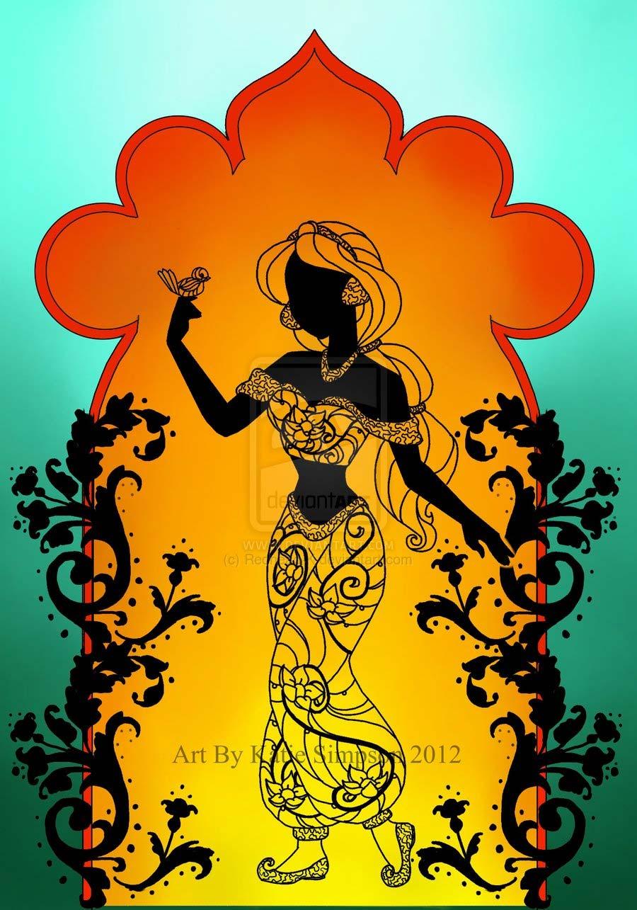 disney-ilustracoes-silhuetas-jasmine