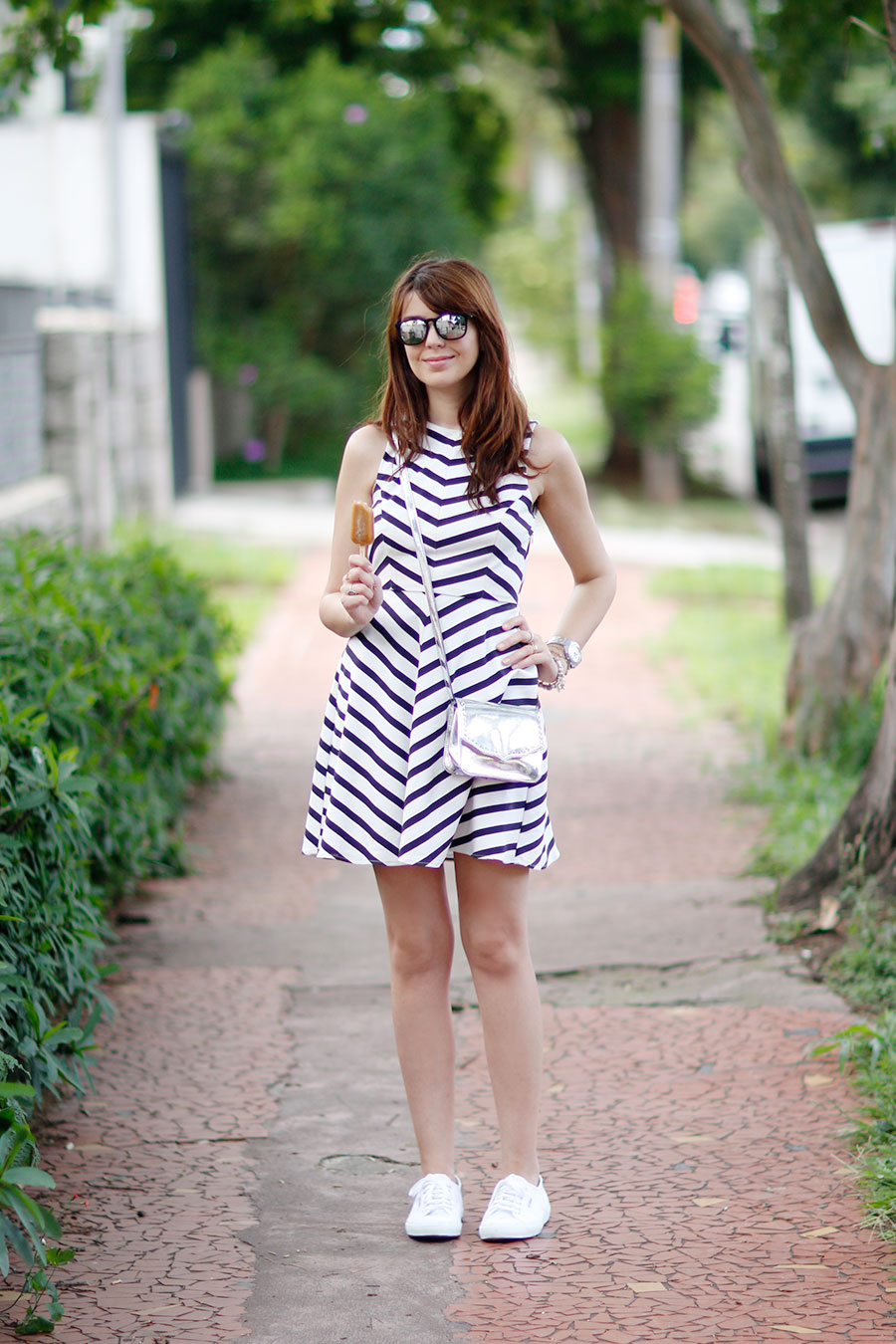 7aff4a341 Look do dia  Tênis branco - Just Lia