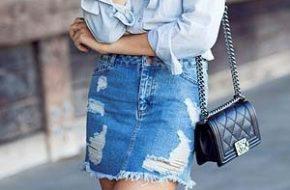 Como usar: Saia jeans
