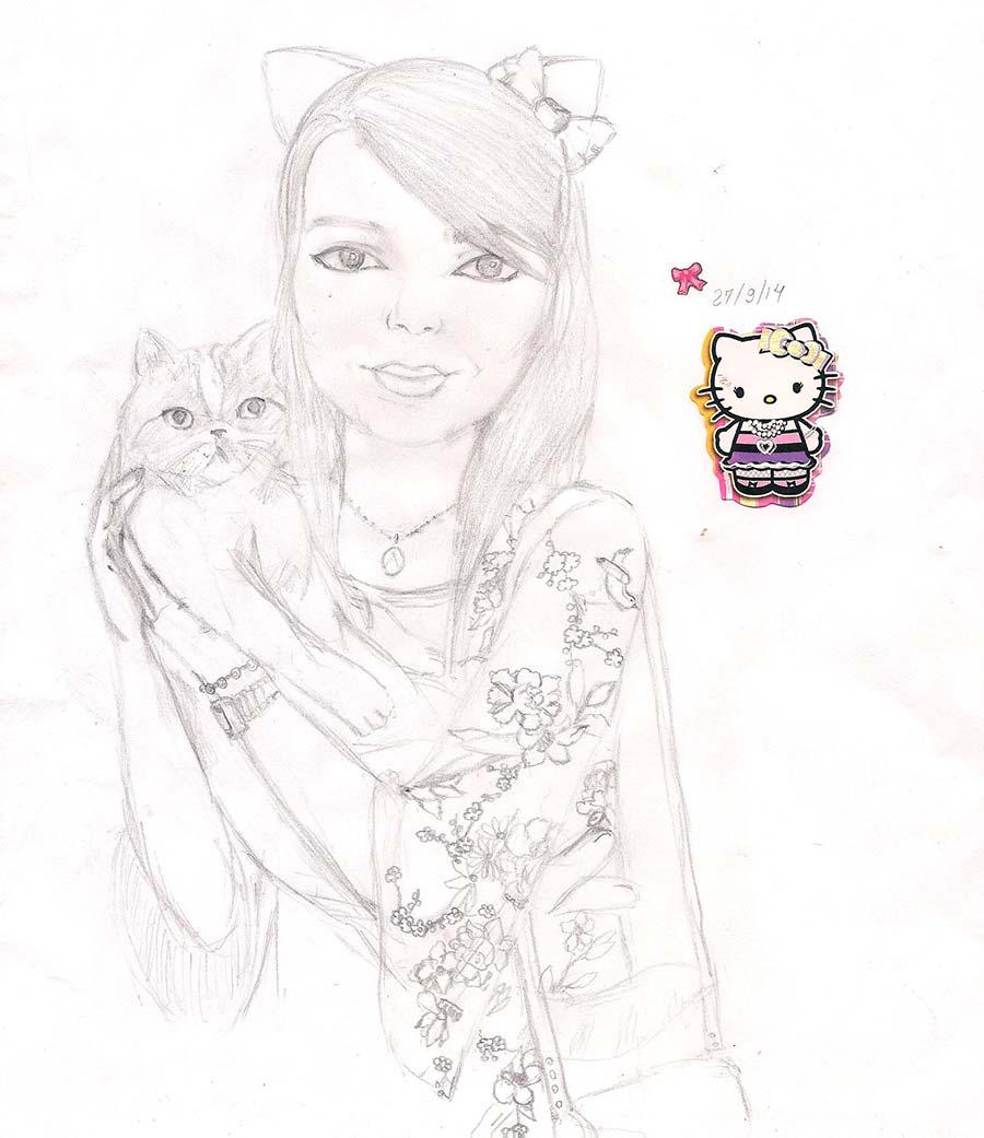 Virei ~nekomimi~ (catgirl!) pelas mãos da Sabrina Rodrigues