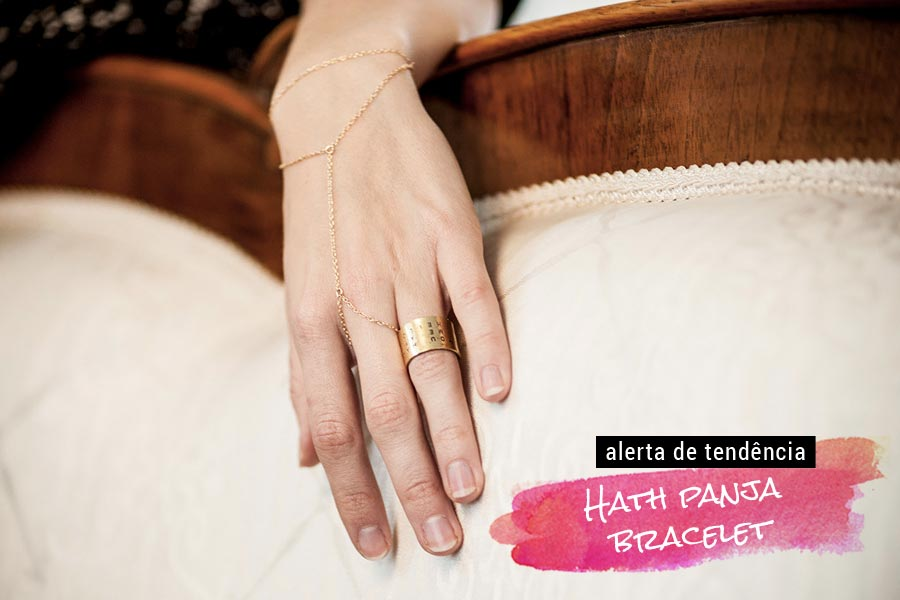 Tendência: Hath panja bracelet
