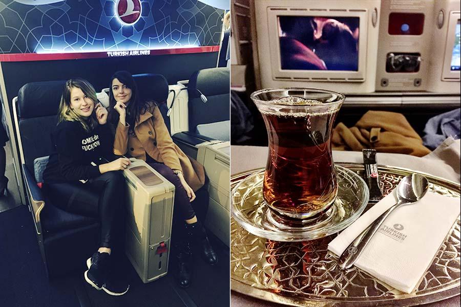 Com Niina + chá turco