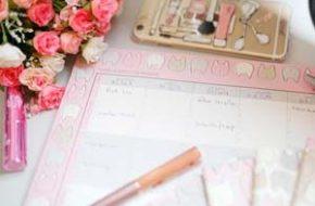 Bloquinho de planejamento semanal