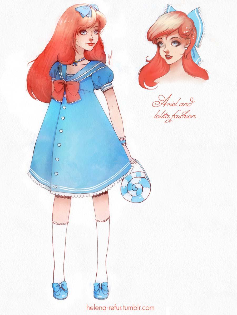 disney-ilustracoes-lolitas-ariel
