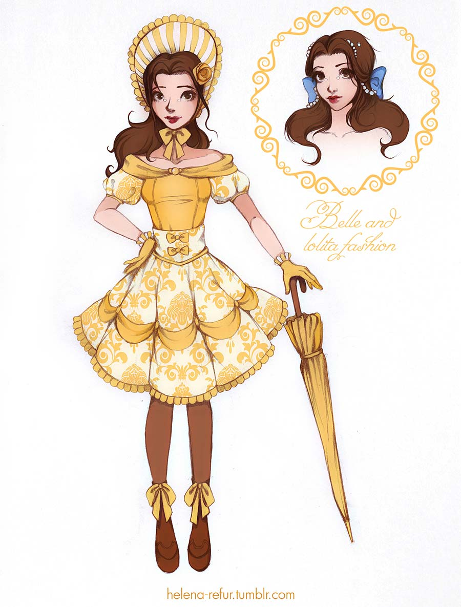 disney-ilustracoes-lolitas-bela