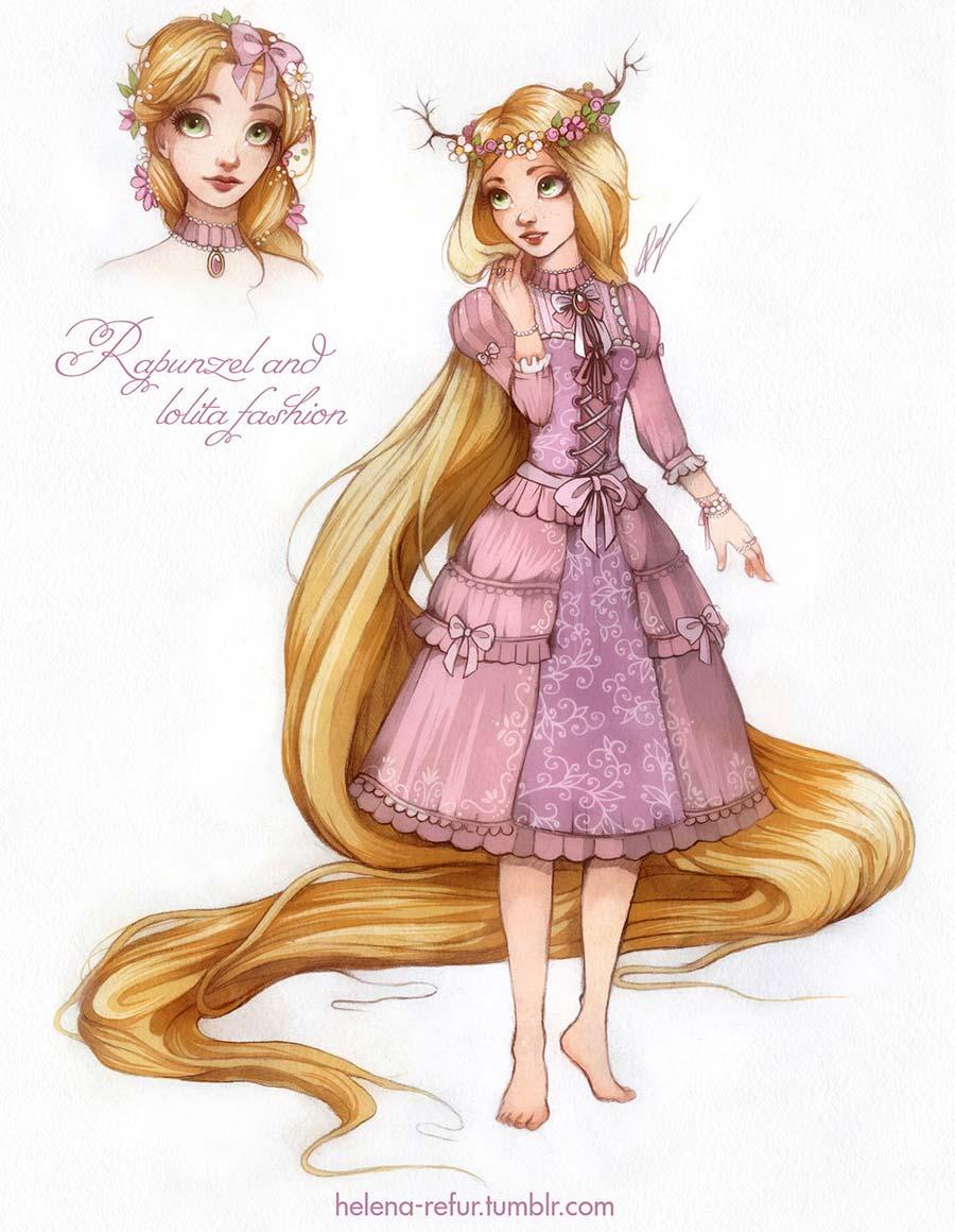 disney-ilustracoes-lolitas-rapunzel