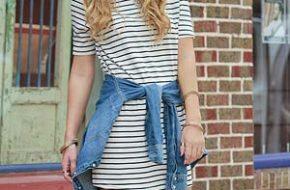 Tendência: Striped t-shirt dress