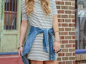 Tendência: Striped t-shirt dress - Just Lia | Por Lia Camargo
