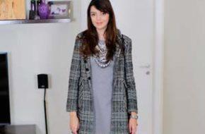 Look do dia – Vestido cinza