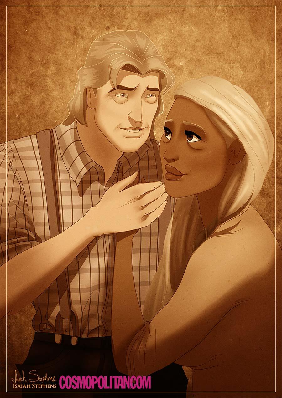 disney-ilustrações-idosos-pocahontas