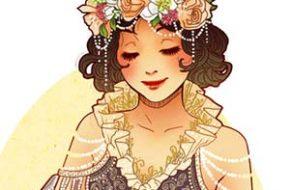 Princesas Disney em Art Nouveau