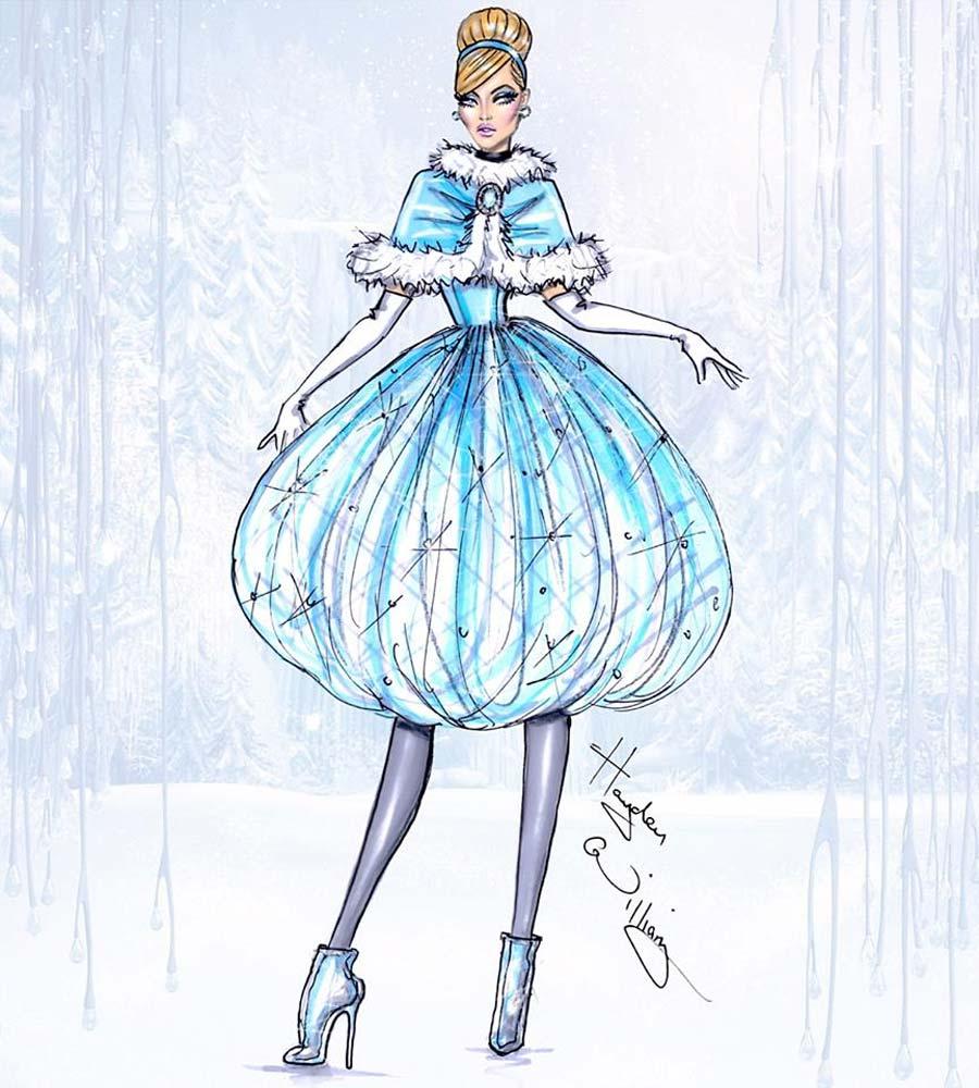 disney-ilustracoes-inverno-cinderela