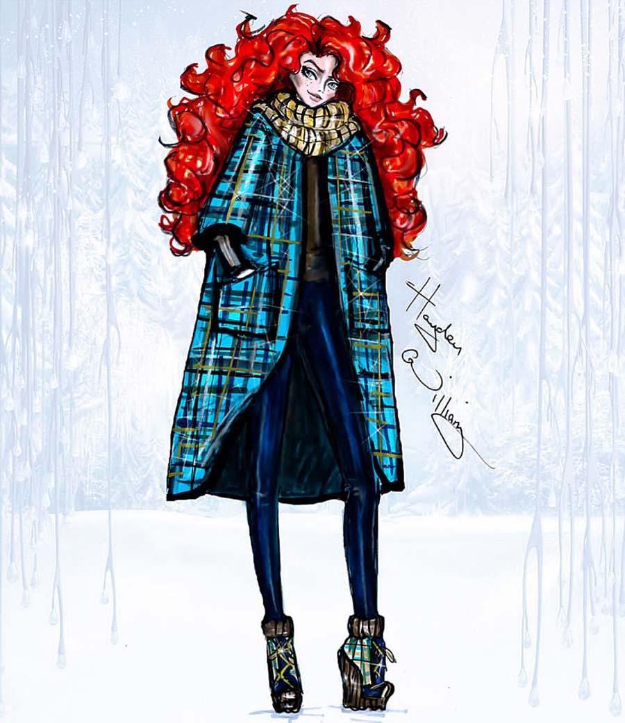 disney-ilustracoes-inverno-merida