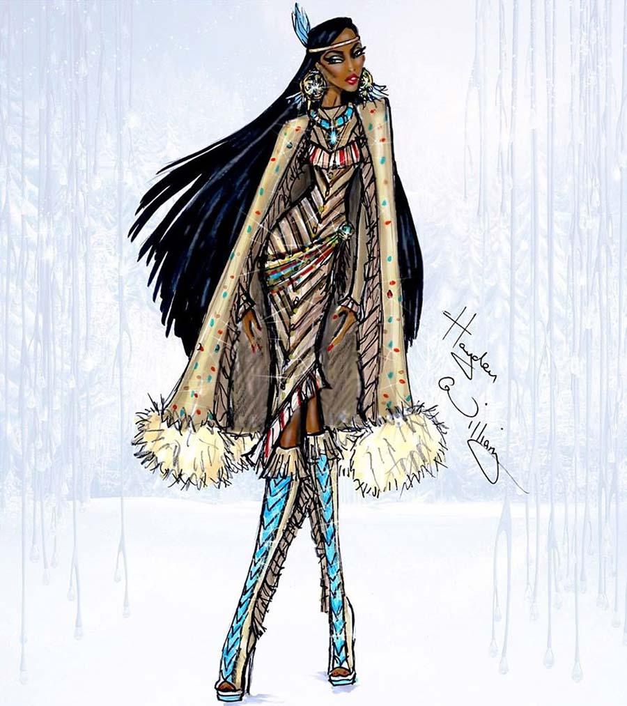 disney-ilustracoes-inverno-pocahontas