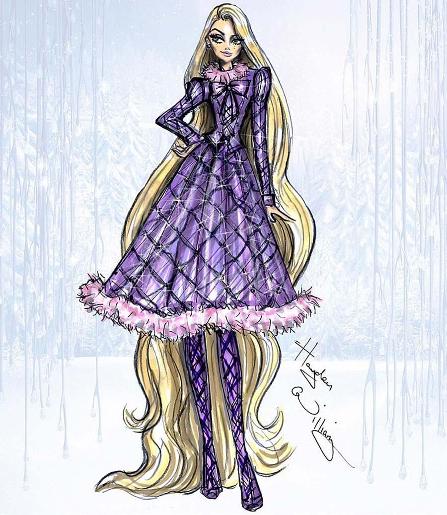 disney-ilustracoes-inverno-rapunzel