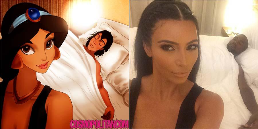 disney-ilustracoes-selfis-kimkardashian-003
