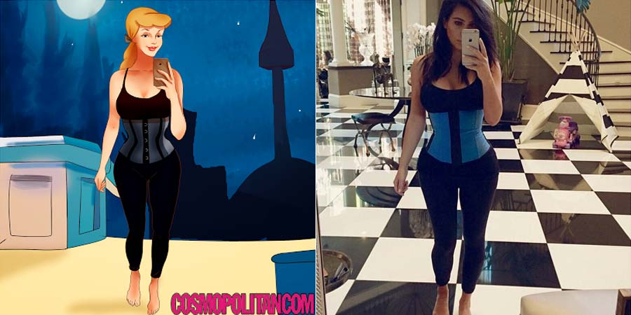 disney-ilustracoes-selfis-kimkardashian-004