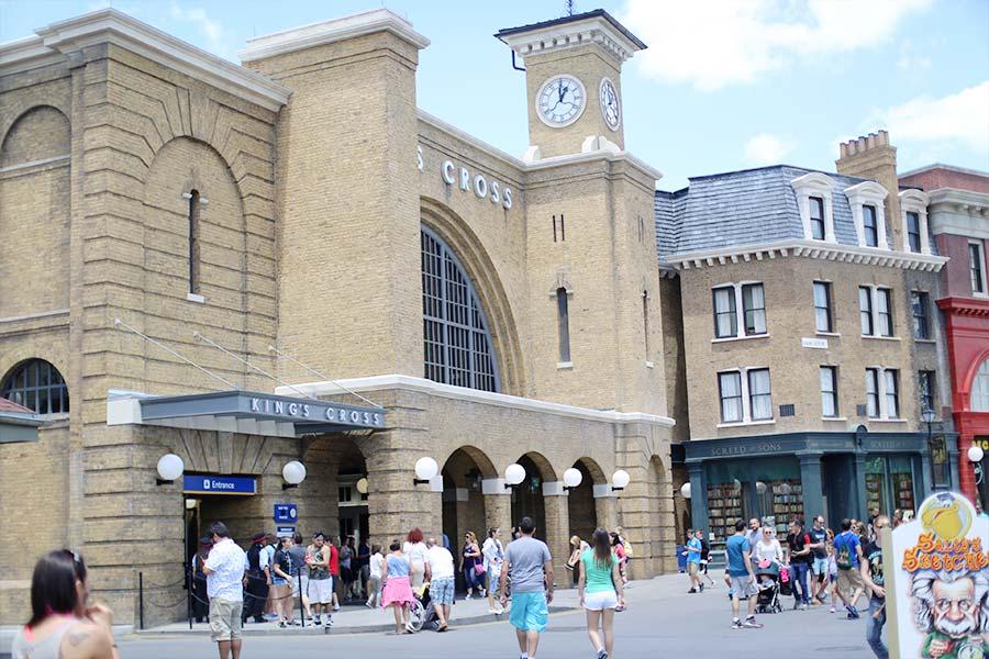 Lado de fora da estação King's Cross em Londres