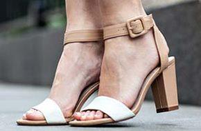 Tendência: Sandália de salto grosso
