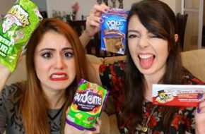 Chocobacon! Provando doces americanos + Smoothie Challenge com a Jana Make Up