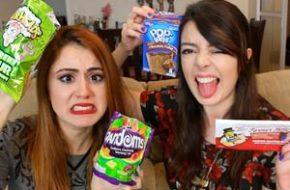 Chocobacon! Provando doces americanos + Smoothie Challenge com a Jana Make Up