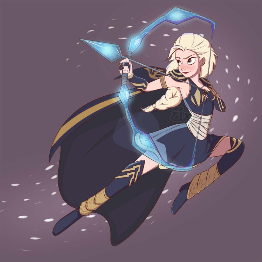 disney-ilustracoes-leagueoflegends-elsa